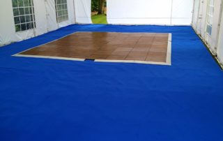 party tent with carpet and dance floor