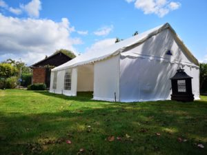party tent in large garden milton keynes