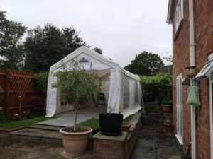 party tent in small garden milton keynes