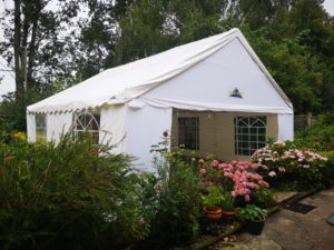 party tent on patio area hard standing milton keynes