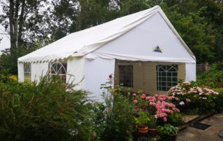 party tent on patio area hard standing milton keynes