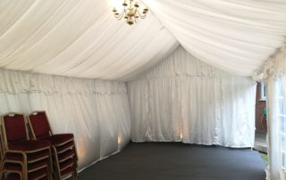 lined party tent hire milton keynes