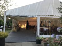wedding marquee entrance with panoramic windows