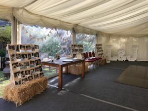decorated wedding marquee