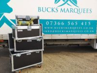 Bucks Marquees van with Buckie the mascot