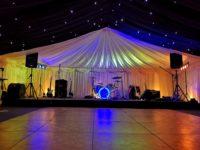 marquee hire milton keynes parquet dance floor star light bay stage
