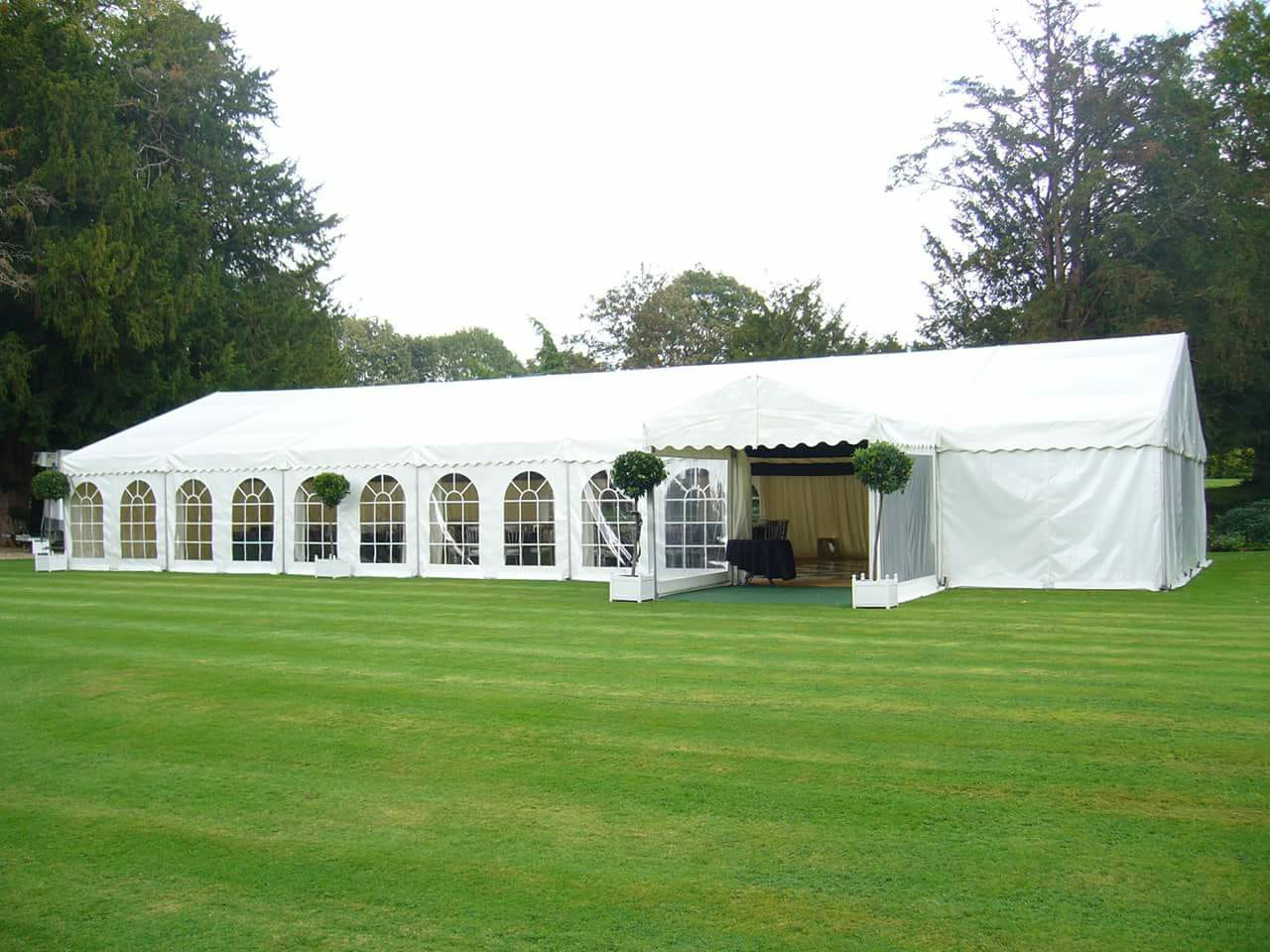 marquee with traditional windows